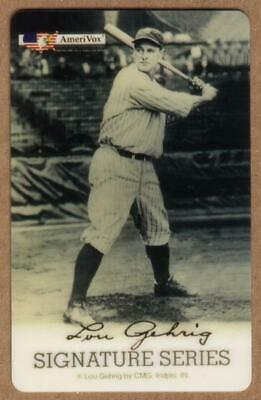 5m Lou Gehrig Batting Stance & Baseball Bat Signature Series SPECIMEN Phone Card