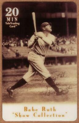 20m Babe Ruth Baseball: Show Collection: Babe Ruth Swings (Bat Up) Phone Card
