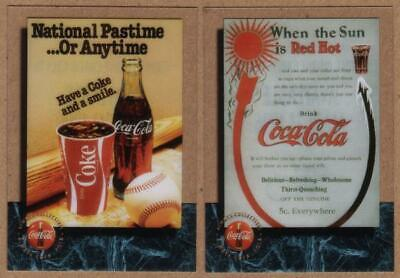 2x Coca-Cola CEL PROMO: Coke (NOT PhoneCards) 'AVAILABLE MARCH 1996' Phone Card