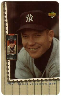 10m Mickey Mantle Close-up Photo '1957 - Second Consecutive MVP' Phone Card
