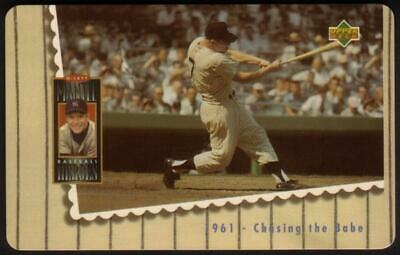 10m Mickey Mantle Baseball Batting Photo: '1961 Chasing The Babe' Phone Card