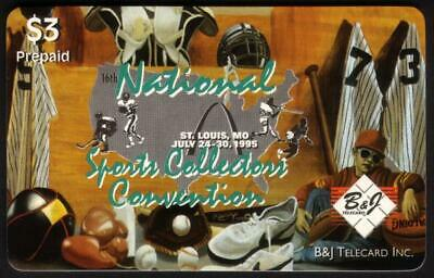 16th National Sports Collectors Convention (St. Louis 7/95) Set of 3 Phone Card