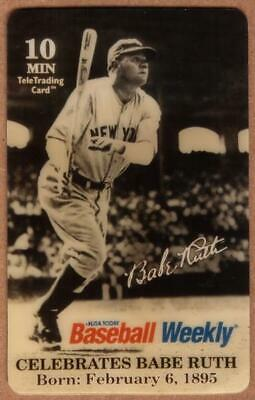 10m Babe Ruth - USA Today's Baseball Weekly Celebration SPECIMEN Phone Card