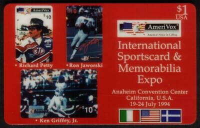 $1. Int'l Sportscard & Memorabilia Expo (Anaheim: July 1994) Collage Phone Card