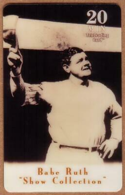 20m Babe Ruth Baseball: Show Collection: Babe Ruth Waves Farewell Phone Card