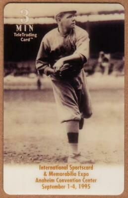 3u Babe Ruth Baseball: Anaheim Expo: Babe Ruth Pitching Phone Card
