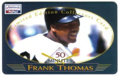 50m Frank Thomas Baseball 'Limited Edition Collector's Card' USED Phone Card