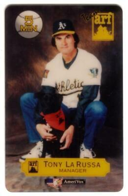 5m Tony LaRussa Baseball. ARF Animal Rescue Foundation Promo SPECIMEN Phone Card