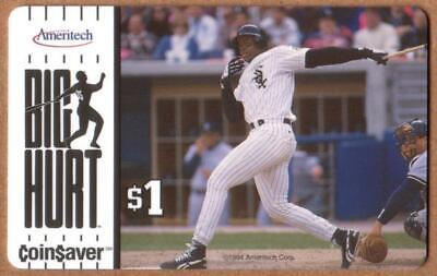 $1. Frank Thomas 'Big Hurt' Coin$aver: Baseball  Phone Card