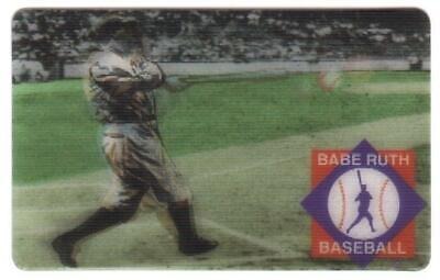 30m Lenticular 'Hologram' Babe Ruth Batting: Image Changes As Rotated Phone Card