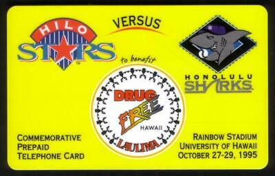Hilo Stars Versus Honolulu Sharks Baseball. Rainbow Stadium. SPECIMEN Phone Card