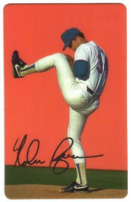 Nolan Ryan Winding Up To Pitch (Second of Four Cards) Red Background Phone Card