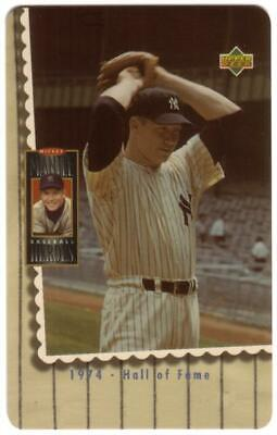 10m Mickey Mantle Baseball Pitching Photo '1974 - Hall of Fame' Phone Card