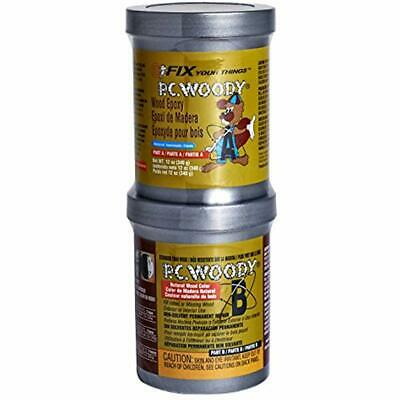 PC Products PC-Woody Repair Epoxy Paste, Two-Part 12oz In Cans, Tan 16333 Home &