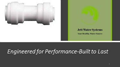 """3 Pack RO Straight Coupling Adaptor Water Fitting 1/4"""" QC x 1/4"""" QC"""