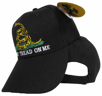 60b00aa9 Gadsden Don't Tread on Me Hat Tea Party Black / Yellow Snake Acrylic Cap