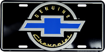 "Genuine Chevrolet Chevy Cars Trucks Tag 6""x12"" Aluminum License Plate"