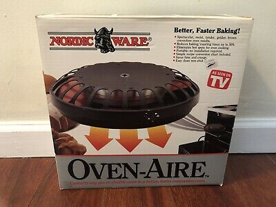 Nordic Ware OVEN-AIRE Converts Oven to Convection With Instructions And Guide