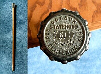 Vintage 1959 Oregon Statehood Centennial Commemorative Walking Stick