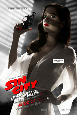 SIN CITY A DAME TO KILL FOR MOVIE POSTER 2 Sided RARE ORIGINAL Advance 27x40 EVA