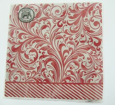 """""""Candy Cane"""" 20 Cocktail Paper Napkins made in Germany Michel Design Works"""