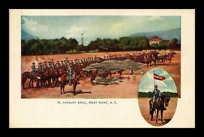 Us Postcard Cavalry Drill West Point New York