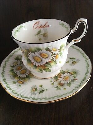 Queens Fine Bone China October Daisy Small Teacup And Saucer