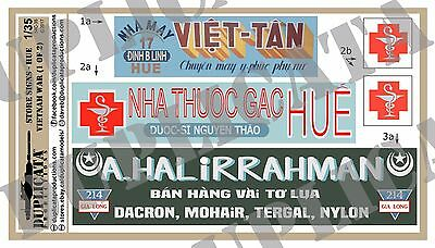 Diorama/Model Accessory - 1/35 Store Signs - Hue City  - Vietnam War (2 sheets)