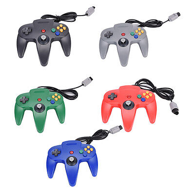 1x Long Handle Gaming Controller Pad Joystick For Nintendo N64 System TDHZ