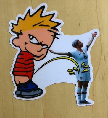 Calvin Pee On Megan Rapinoe Spoof Funny Sticker Decal