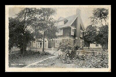 Us Postcard Unity Hall Trenton New York Historic Site Early 1900S
