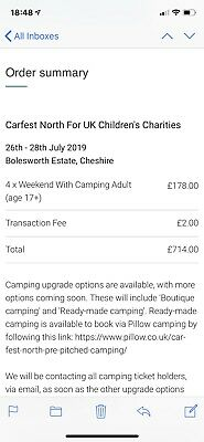 4 Adult Weekend Carfest north Tickets With Camping