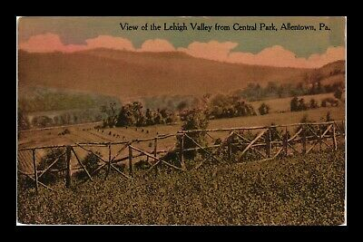 Us Postcard Lehigh Valley View From Central Park Allentown Pennsylvania