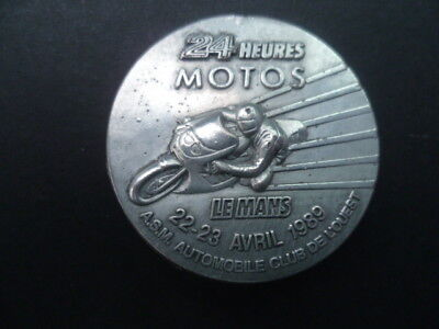 Broche 24 heures MOTOS Le Mans 22.23 avril 1989.A.S.M.Automobile Club de l'Ouest