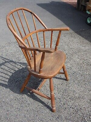 Lovely Unusual Antique Bentwood Windsor Arm Chair For Restoration