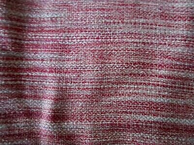 4 Yards Lovely Woven LINEN & SILK Blend Pastel Heather Fabric Rose Tones