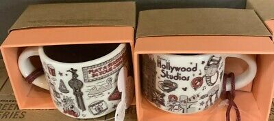 New Disney Park Starbucks Been There Hollywood Studios Coffee Mug Ornament & Box