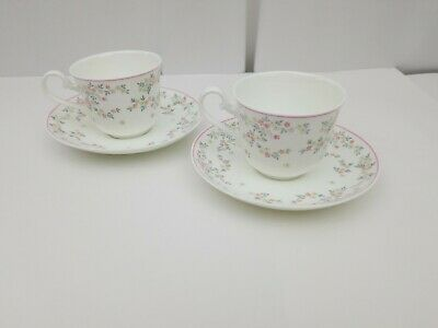 Villeroy & Boch Fleurosa Bone China Cup & Saucer Set of 2 Heinrich Germany Tea