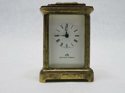 MATTHEW NORMAN VINTAGE 1742 SWISS 8 Day BOUDOIR CARRIAGE CLOCK Working Brass