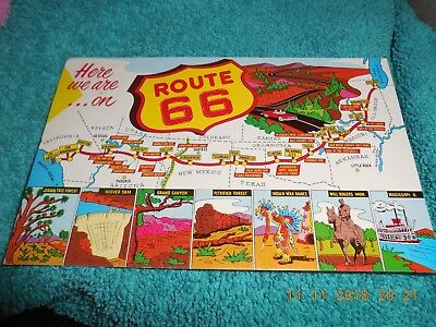 Postcard route 66 free shipping U S