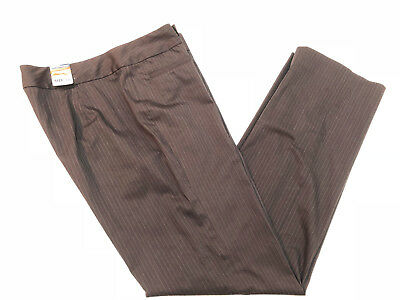 Old Navy Women Stretch Pants Pinstripe Brown Size 10 Career Straight New