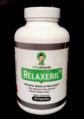 Relaxeril Powerful Natural Muscle Relaxant VitaMonk  EXP 3/20 150 Capsules