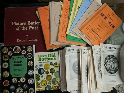Lot of Button Reference Material for Button Collectors & Dealers. Books & More