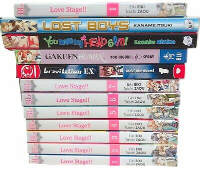 Love stage!! + Yaoi BL Boys Love Manga Bundle Set Collection (UK BUYERS ONLY)