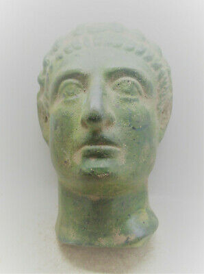 Museum Quality Ancient Roman Bronze Mask Theatrical Usage 200-300Ad