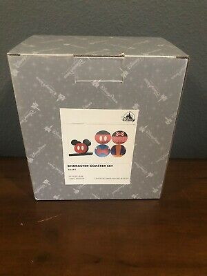 Disney Parks Mickey and Friends Colorful Kitchen Coaster Set of 4 NIB