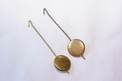 Lot of 2 Vintage Pendulum for Novelty Clocks Hummel Black Forest Cuckoo Zappler