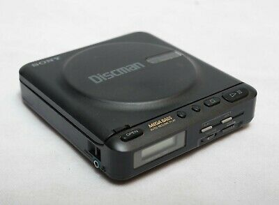 Sony Discman D-12 Portable CD Player with Adapter Great
