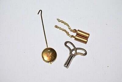 Vintage Brass Weights Pendulum Key Novelty Clock Hummel Black Forest Cuckoo #2