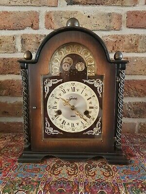 Rare German Table clock with moon phase from 1940-1950- Gewes